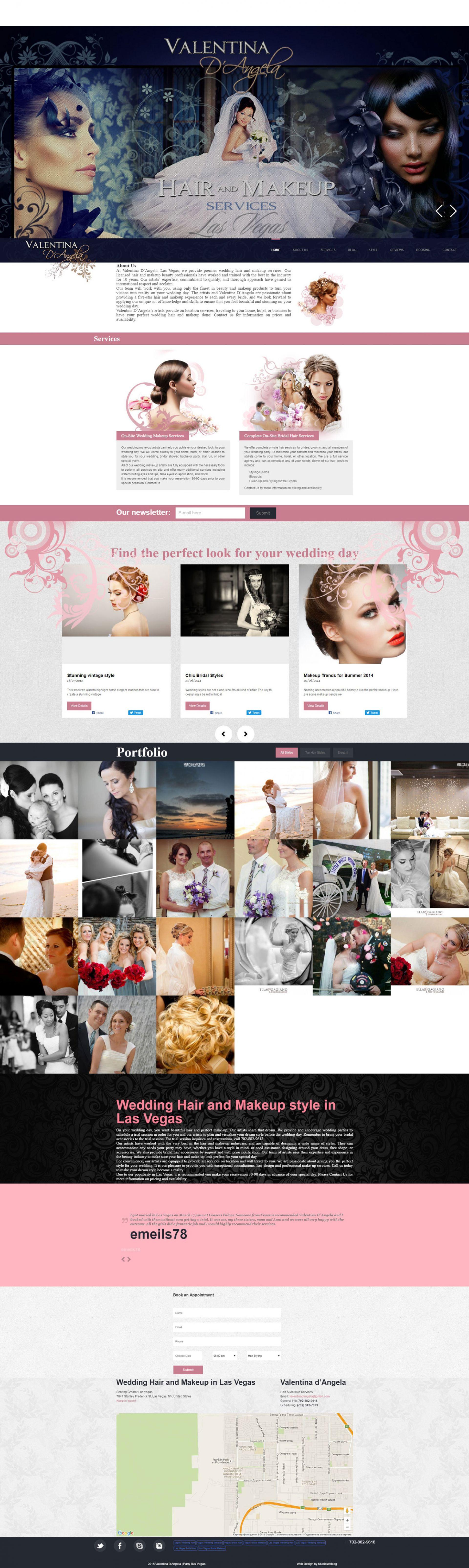 Valentina D'Angela - сватбени прически и грим