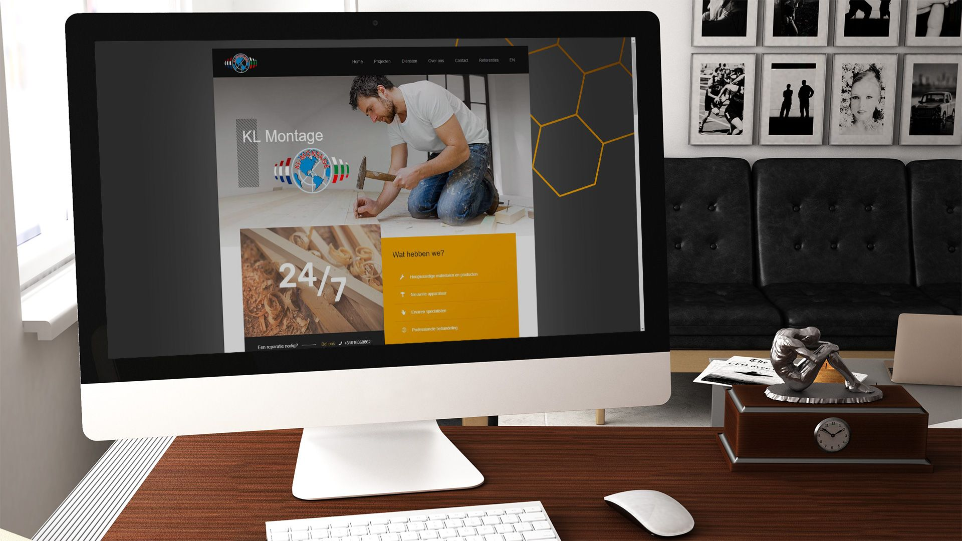 Изработка на Уеб сайт - KL Montage